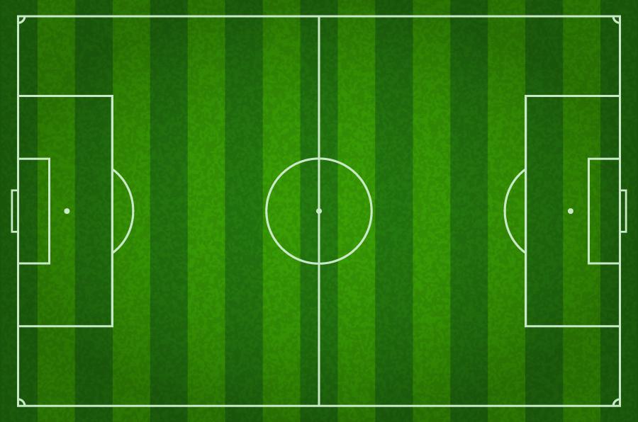 フリーイラスト サッカーフィールド