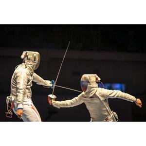 フリー写真, フェンシング, スポーツ, 武術, 刀剣, サーブル, 人物, 二人