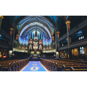 フリー写真, 風景, 建造物, 建築物, 教会(聖堂), モントリオール・ノートルダム聖堂, カナダの風景