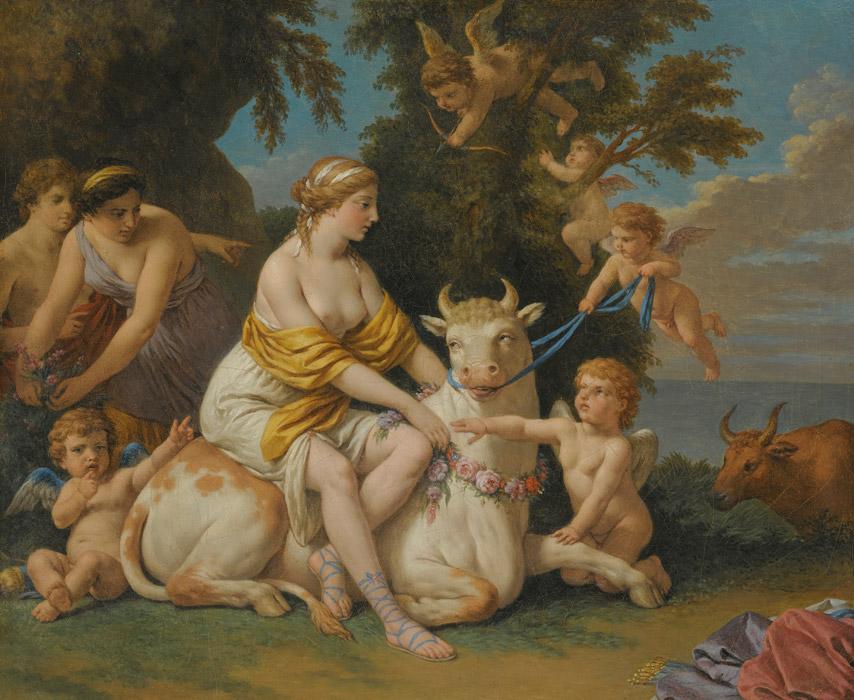 フリー絵画 ルイ=ジャン=フランソワ・ラグルネ作「エウロペの誘拐」