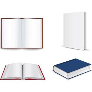 フリーイラスト, ベクター画像, AI, 本(書籍), 白紙