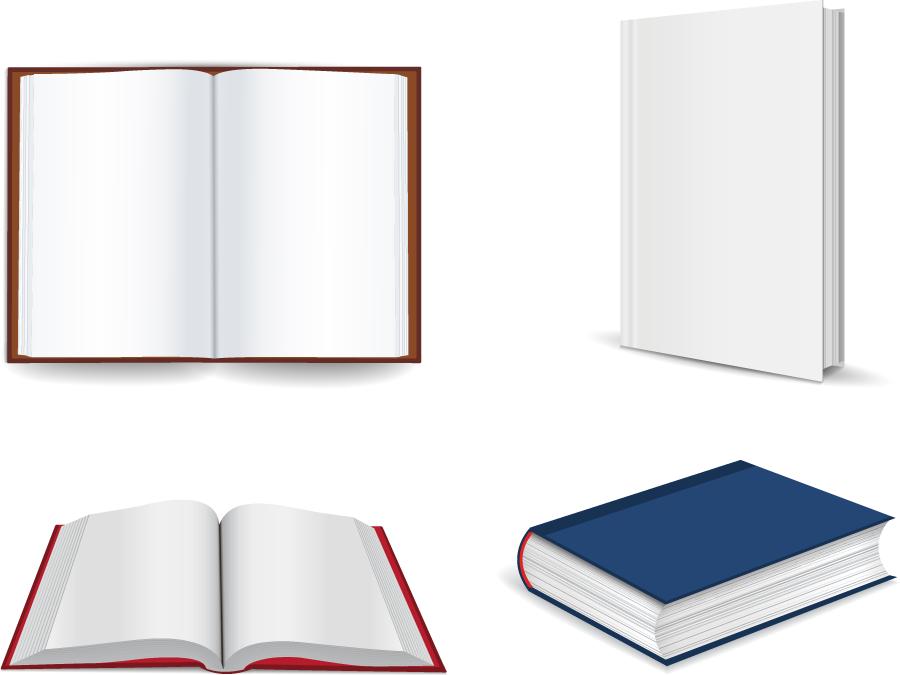フリーイラスト 4種類の本のセット