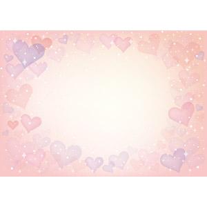フリーイラスト, ベクター画像, AI, 背景, フレーム, 囲みフレーム, ハート, 輝き, ピンク色