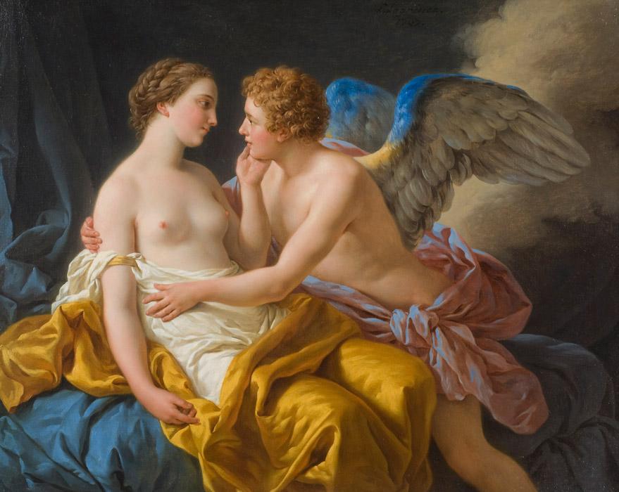 フリー絵画 ルイ=ジャン=フランソワ・ラグルネ作「アモールとプシュケ」