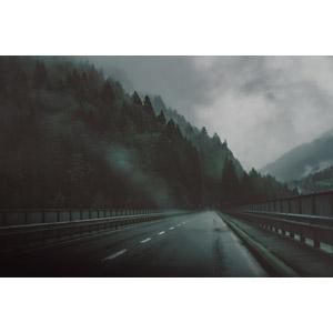 フリー写真, 風景, 道路, 霧(霞), 山, スイスの風景