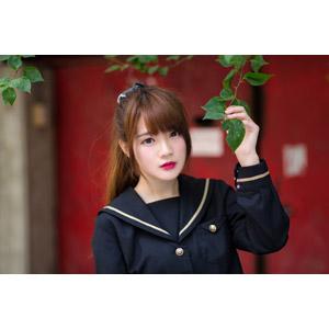 フリー写真, 人物, 女性, アジア人女性, 欣欣(00001), 中国人, 少女, アジアの少女, 学生服, 学生(生徒), 高校生, セーラー服(学生服)