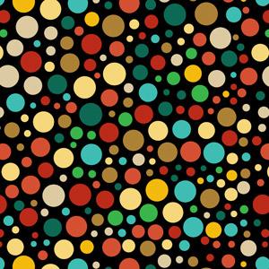 フリーイラスト, ベクター画像, AI, 背景, 水玉模様(ドット柄), 円形(サークル), カラフル