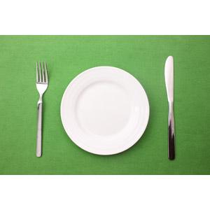 フリー写真, 食事, 食器, お皿, フォーク, テーブルナイフ