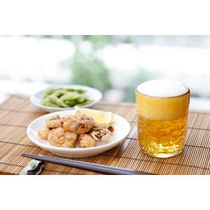 フリー写真, 食べ物(食料), 飲み物(飲料), お酒, ビール, 揚げ物, 枝豆(えだまめ)