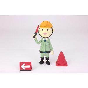 フリー写真, 人形, 職業, 仕事, 警備員, 交通誘導警備員, 誘導棒(赤色灯)