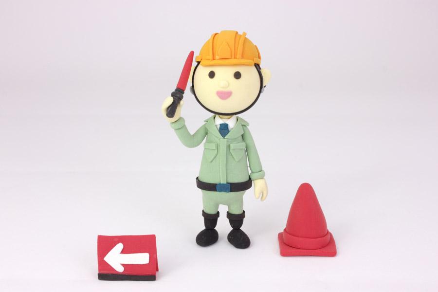 フリー写真 交通誘導警備員の人形