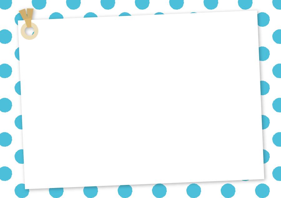 フリーイラスト 水玉模様とメッセージカードの背景