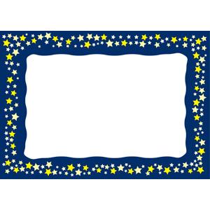 フリーイラスト, ベクター画像, AI, 背景, フレーム, 囲みフレーム, 星(スター), 天の川, 夜空