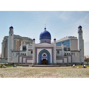 フリー写真, 風景, 建造物, 建築物, モスク, カザフスタンの風景
