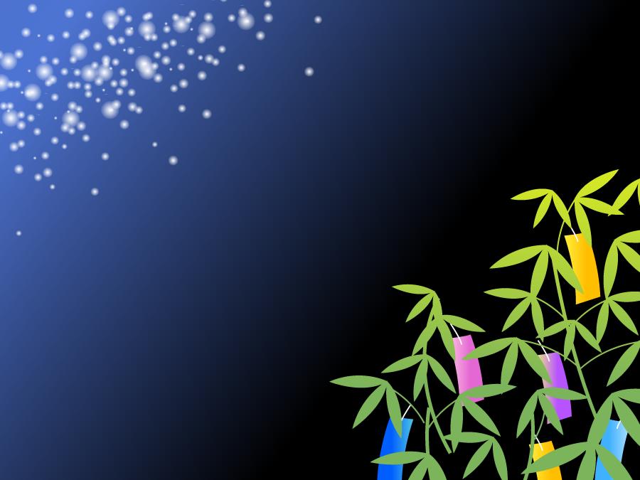 フリーイラスト 笹飾りと天の川の飾り枠