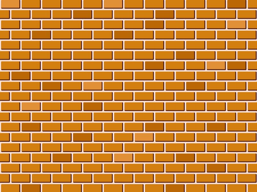 フリーイラスト レンガの壁