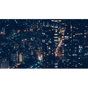 フリー写真, 風景, 建造物, 建築物, 高層ビル, 都市, 街並み(町並み), 夜, 夜景, 日本の風景, 東京都