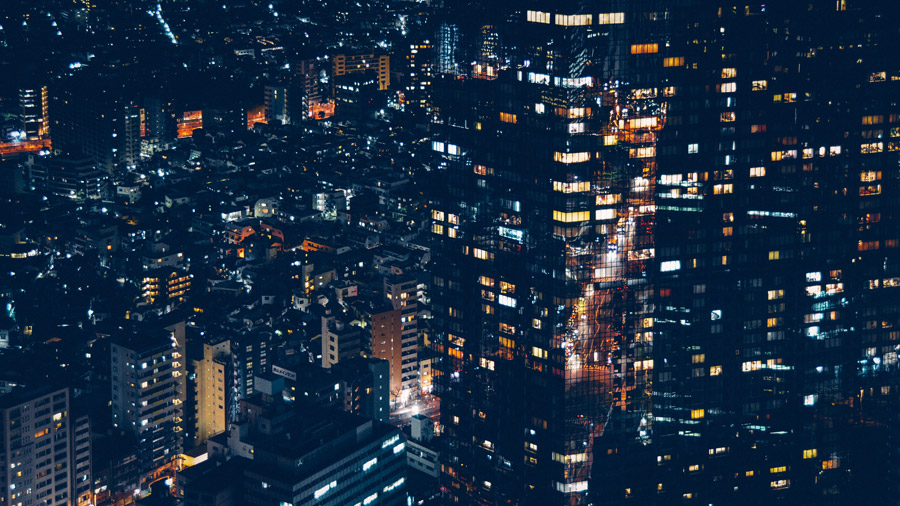 フリー写真 東京都港区の六本木の夜景