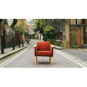 フリー写真, 風景, 街並み(町並み), 椅子(チェア), 小道, イギリスの風景, ロンドン