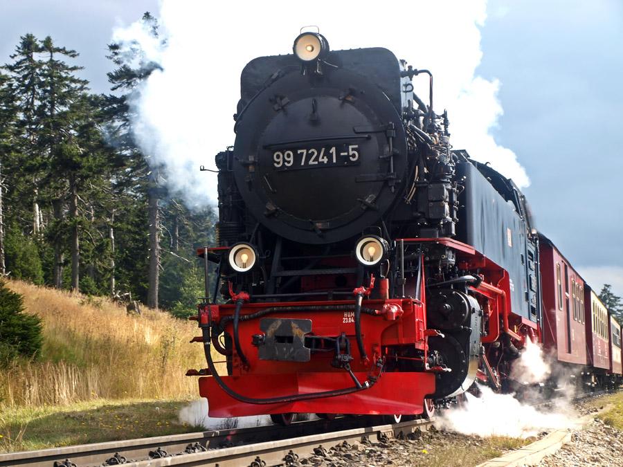 フリー写真 ハルツ狭軌鉄道の蒸気機関車
