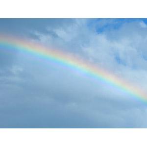 フリー写真, 風景, 自然, 雲, 虹, 空