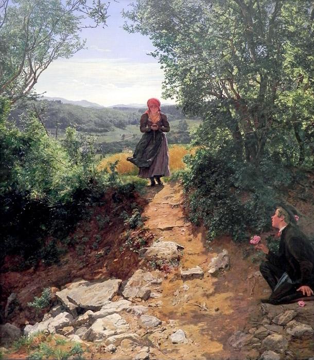 フリー絵画 フェルディナント・ゲーオルク・ヴァルトミュラー作「期待」