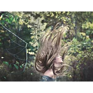 フリー写真, 人物, 女性, 外国人女性, 髪の毛, 目を閉じる, 横顔