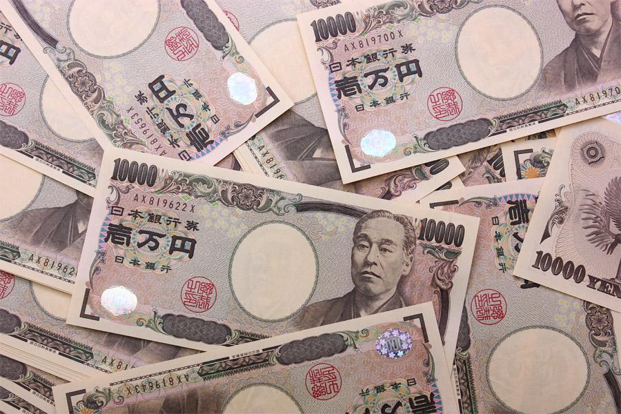 フリー写真 バラまかれた10000円札