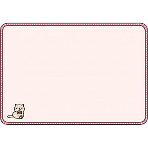 フリーイラスト, ベクター画像, EPS, 背景, フレーム, 囲みフレーム, メッセージカード, 猫(ネコ)