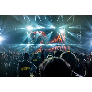 フリー写真, 人物, 人込み(人混み), 観客, 音楽, コンサート(ライブ), 警備員
