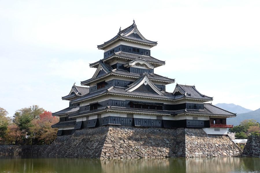 フリー写真 松本城の天守の風景