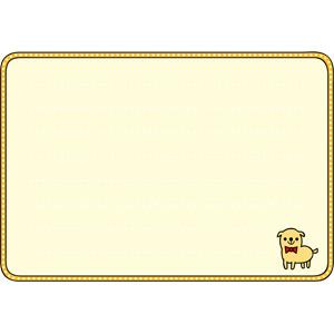 フリーイラスト, ベクター画像, EPS, 背景, フレーム, 囲みフレーム, メッセージカード, 犬(イヌ)