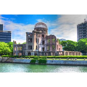 フリー写真, 風景, 建造物, 建築物, 原爆ドーム, 世界遺産, 日本の風景, 広島県, 原子爆弾(原爆)