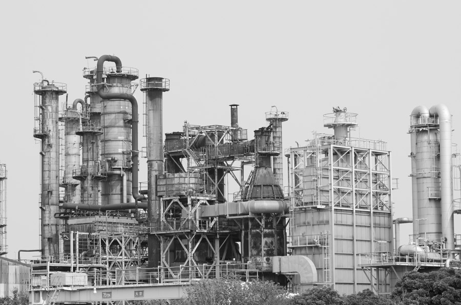 フリー写真 工場の風景