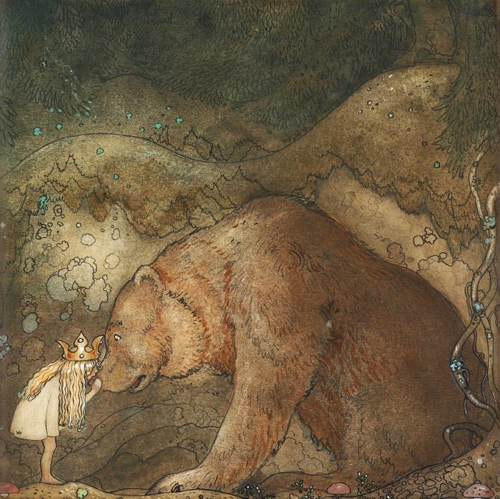フリー絵画 ヨン・バウエル作「哀れなクマさん」