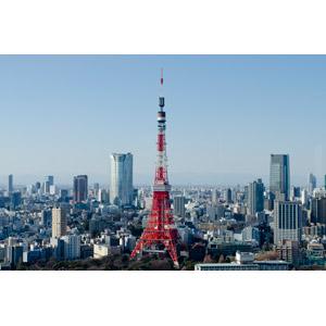 フリー写真, 風景, 建造物, 建築物, 高層ビル, 都市, 街並み(町並み), 東京タワー, 塔(タワー), 日本の風景, 東京都