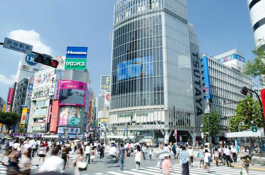 フリー写真 渋谷のスクランブル交差点