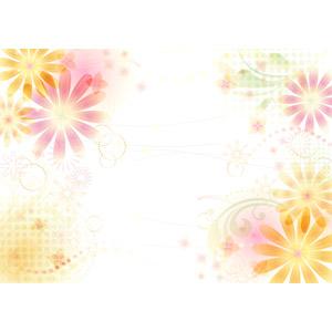 フリーイラスト, ベクター画像, AI, 背景, 抽象イメージ, 花柄