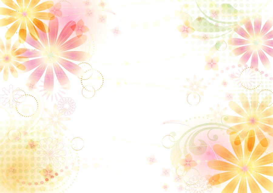 フリーイラスト 花柄の抽象背景