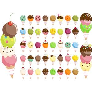 フリーイラスト, ベクター画像, AI, 食べ物(食料), 菓子, 洋菓子, スイーツ, アイスクリーム
