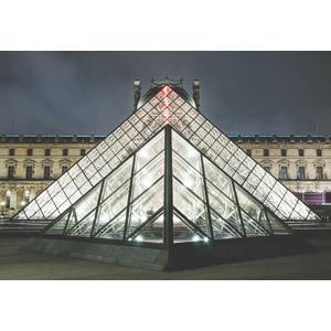 フリー写真, 風景, 建造物, 建築物, 博物館(美術館), ルーブル美術館, ルーヴル・ピラミッド, フランスの風景, パリ, 夜, 夜景