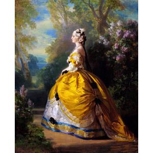 フリー絵画, フランツ・ヴィンターハルター, 肖像画, 女性, 外国人女性, ドレス, 横顔, 皇后, フランス人
