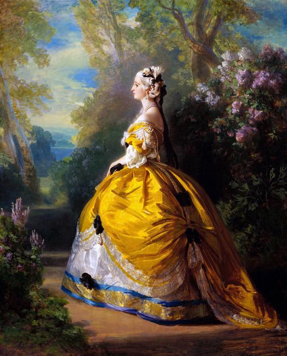 フリー絵画 フランツ・ヴィンターハルター作「フランス皇后ウジェニー」