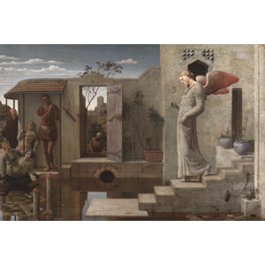フリー絵画, 宗教画, キリスト教, 新約聖書, ベトザタの池, 病気, 天使(エンジェル)