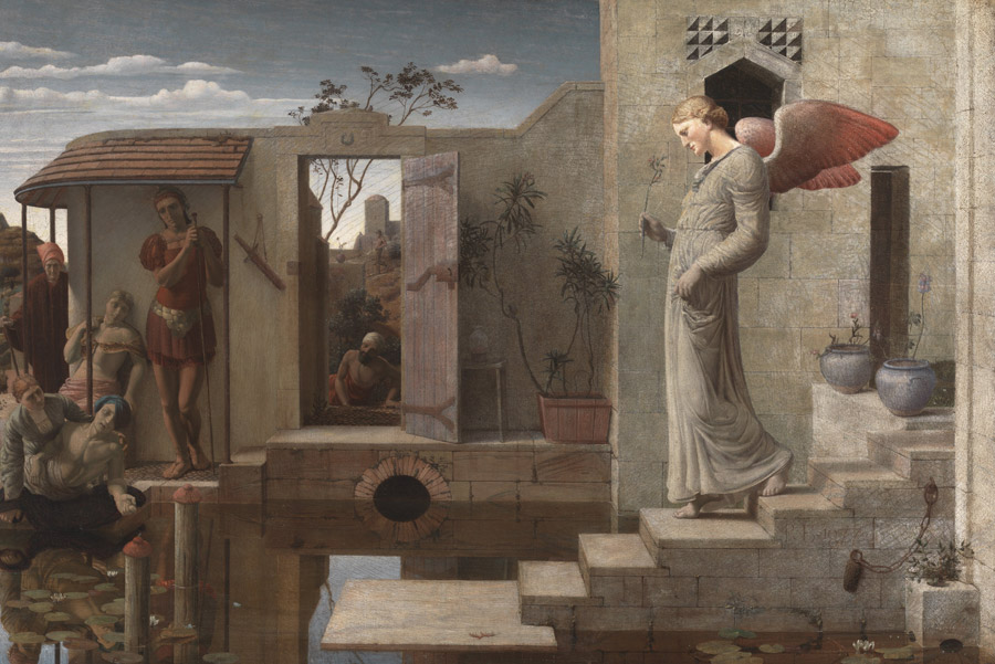 フリー絵画 ロバート・ベイトマン作「ベトザタの池」