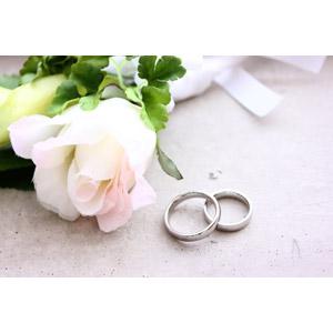 フリー写真, 結婚式(ブライダル), ブートニア, 結婚指輪, 指輪, 6月, ジューンブライド