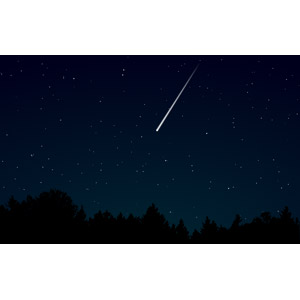 フリーイラスト, ベクター画像, EPS, 風景, 自然, 夜, 夜空, 星(スター), 流れ星(流星)