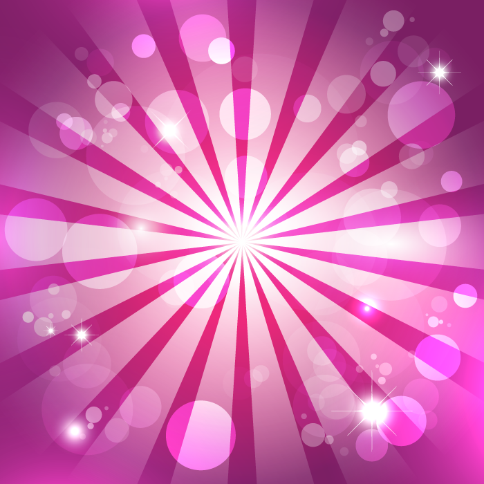 フリーイラスト 光の玉ボケと放射線状の背景