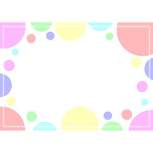 フリーイラスト, ベクター画像, EPS, 背景, フレーム, 囲みフレーム, 水玉模様(ドット柄), 円形(サークル), カラフル