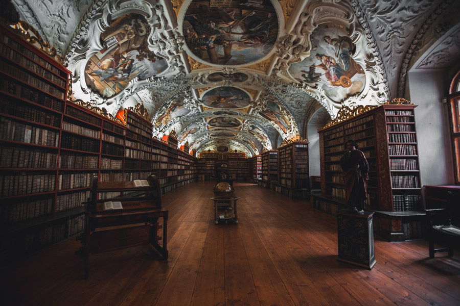 フリー写真 プラハのクレメンティヌム図書館の風景